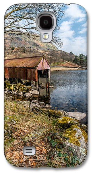 Dilapidated Digital Galaxy S4 Cases - Rusty Boathouse Galaxy S4 Case by Adrian Evans
