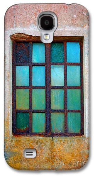 Grid Photographs Galaxy S4 Cases - Rusty Green Window Galaxy S4 Case by Carlos Caetano