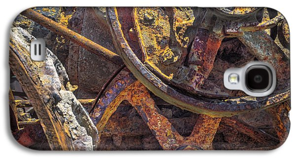 Machinery Galaxy S4 Cases - Rusty Rumely Galaxy S4 Case by F Leblanc