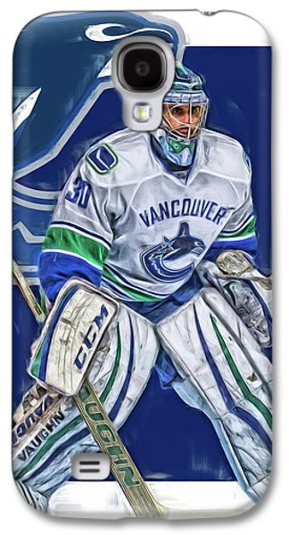 Ryan Miller Vancouver Canucks Oil Art Galaxy S4 Case by Joe Hamilton