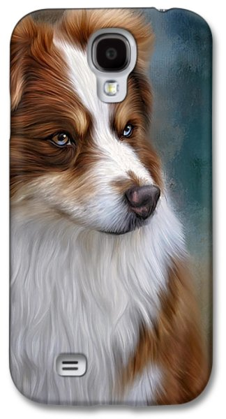 Dogs Digital Art Galaxy S4 Cases - Ryley Galaxy S4 Case by Sandy Oman