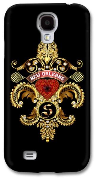Enterprise Galaxy S4 Cases - S-Fleur-de-lis New Orleans Transparent Back Pick Color Galaxy S4 Case by Bill Campitelle