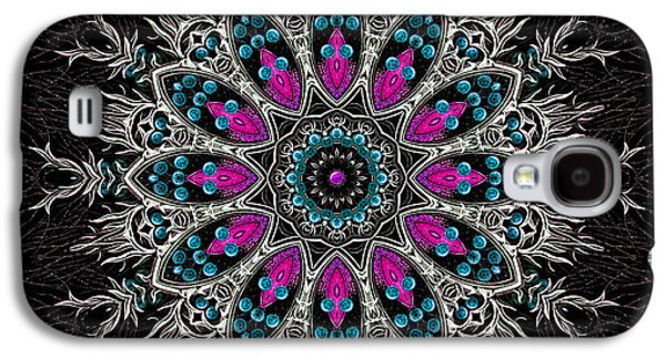 Religious Tapestries - Textiles Galaxy S4 Cases - Sacred Flower Mandala Galaxy S4 Case by Marcus Mattern