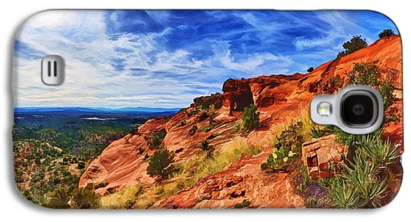 Photo Manipulation Galaxy S4 Cases - Sacred Ground - Shamans Cave Approach Galaxy S4 Case by Bill Caldwell -        ABeautifulSky Photography