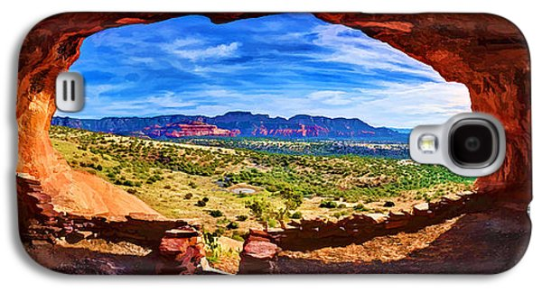 Digitally Manipulated Galaxy S4 Cases - Sacred Ground - Shamans Cave Galaxy S4 Case by Bill Caldwell -        ABeautifulSky Photography