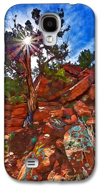 Digitally Manipulated Galaxy S4 Cases - Sacred Ground - Shamans Dome Juniper Galaxy S4 Case by Bill Caldwell -        ABeautifulSky Photography