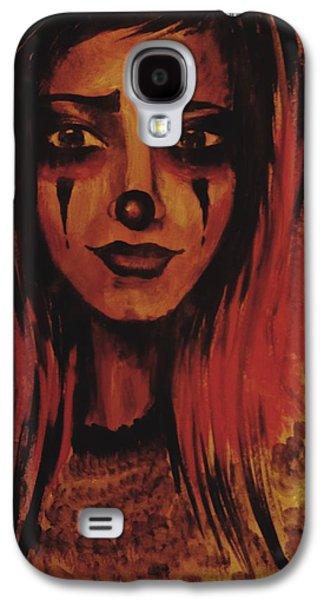 Girl Galaxy S4 Cases - Sad Clown Galaxy S4 Case by Radu Doriana