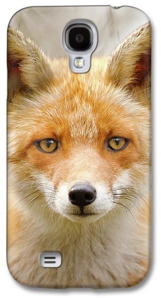 Sad Eyed Fox Of The Lowlands - Red Fox Portrait Galaxy S4 Case by Roeselien Raimond