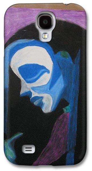 Creepy Pastels Galaxy S4 Cases - Sad Nun Galaxy S4 Case by Alexander Johnson