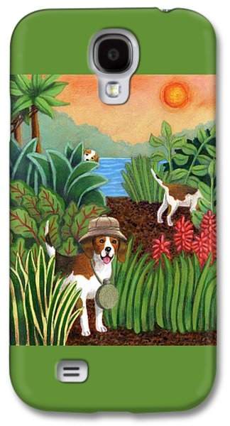 Dog In Landscape Galaxy S4 Cases - Safari Dogs Galaxy S4 Case by Louise Max
