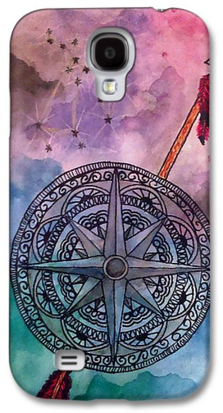 Constellations Paintings Galaxy S4 Cases - Sagittarius Galaxy S4 Case by Jennie Hallbrown