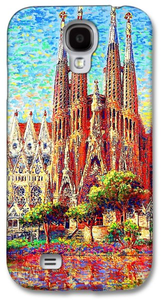 Stones Paintings Galaxy S4 Cases - Sagrada Familia Galaxy S4 Case by Jane Small
