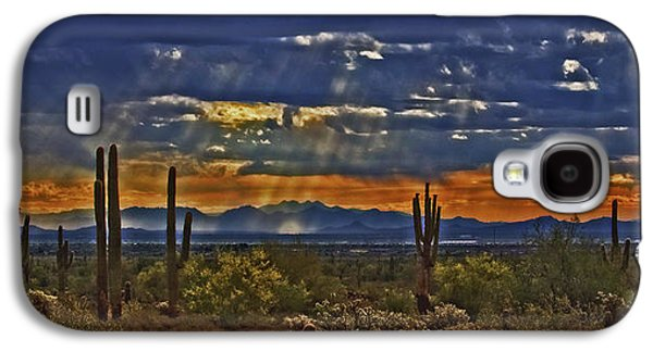 Saguaro Dawn Galaxy S4 Case by Kenneth Roberts