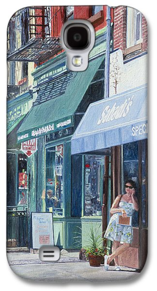 Store Fronts Paintings Galaxy S4 Cases - Sahadis Atlantic Avenue Brooklyn Galaxy S4 Case by Anthony Butera