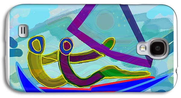 Business Galaxy S4 Cases - Sail Boat Couple Graphic Ditigal Abstract Painting Galaxy S4 Case by Navin Joshi