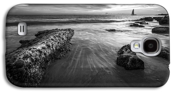 Sail Into The Sunset - Bw Galaxy S4 Case by Marvin Spates