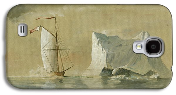 Sail Ship At The Ice Galaxy S4 Case by Juan Bosco