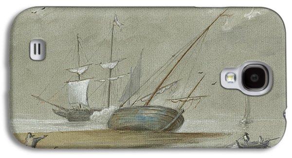 Sail Ships And Fishing Boats Galaxy S4 Case by Juan Bosco