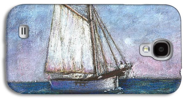Transportation Pastels Galaxy S4 Cases - Sailboat Galaxy S4 Case by Arline Wagner