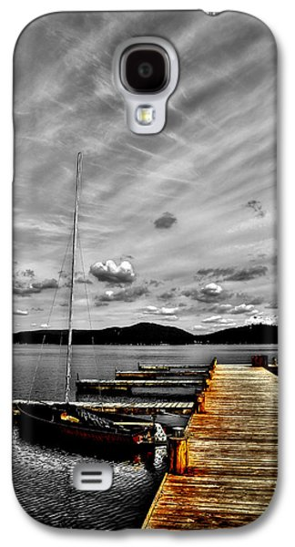 Docked Sailboat Galaxy S4 Cases - Sailboat at the Dock Galaxy S4 Case by David Patterson
