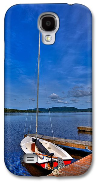 Docked Sailboat Galaxy S4 Cases - Sailboat at The Woods Inn Galaxy S4 Case by David Patterson