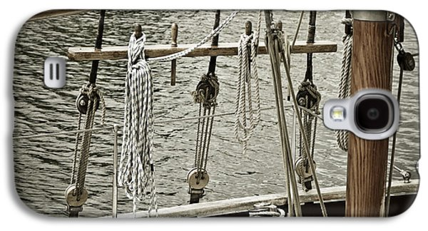 Ocean Sailing Galaxy S4 Cases - Sailboat Detail 3954 Galaxy S4 Case by Frank Tschakert