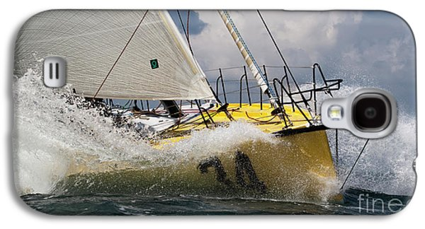 Sailboat Galaxy S4 Cases - Sailboat Le Pingouin Open 60 Charging  Galaxy S4 Case by Dustin K Ryan