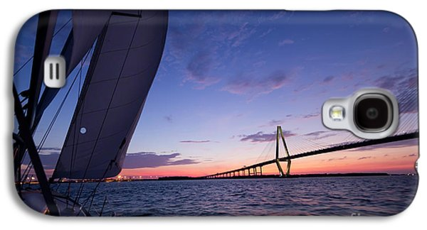 Sailboats Galaxy S4 Cases - Sailboat Sailing Sunset on the Charleston Harbor  Galaxy S4 Case by Dustin K Ryan