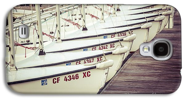 Sailboats In Newport Beach Retro Picture Galaxy S4 Case by Paul Velgos