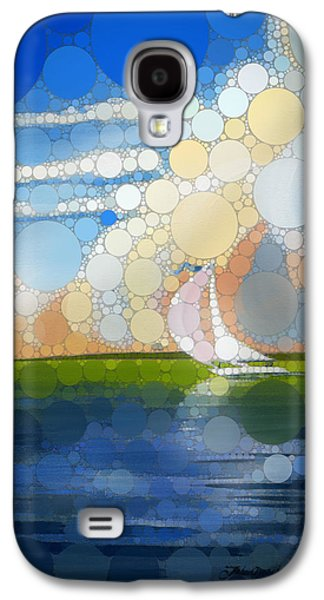 Seascape Digital Galaxy S4 Cases - Sailing 1 - percolated Galaxy S4 Case by John Deecken