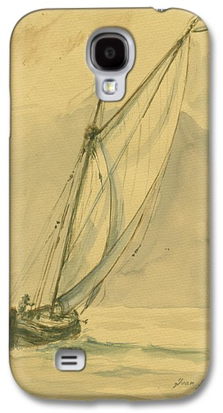Sailing Ship Galaxy S4 Case by Juan Bosco