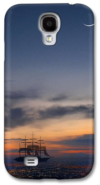Moonrise Galaxy S4 Cases - Sailing to the Moon Galaxy S4 Case by Mike McGlothlen
