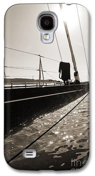 Boats At Dock Galaxy S4 Cases - Sailing Yacht Hanuman J Boat Bow Galaxy S4 Case by Dustin K Ryan