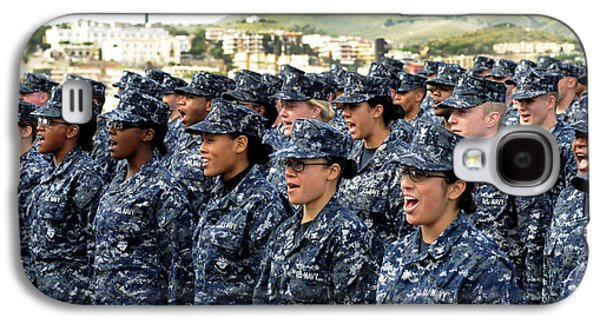 Sailors Yell Before An All-hands Call Galaxy S4 Case by Stocktrek Images