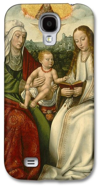 The Followers Paintings Galaxy S4 Cases - Saint Anne With The Virgin And The Christ Child Galaxy S4 Case by Master Of Frankfurt