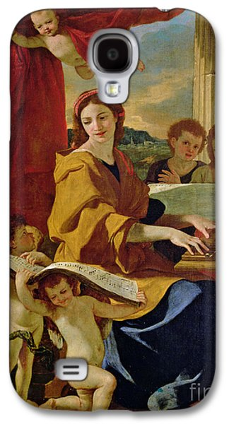 Columns Galaxy S4 Cases - Saint Cecilia Galaxy S4 Case by Nicolas Poussin
