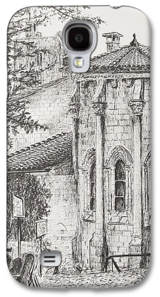 Pen And Ink Drawing Drawings Galaxy S4 Cases - Saint-Emilion Galaxy S4 Case by Vincent Alexander Booth