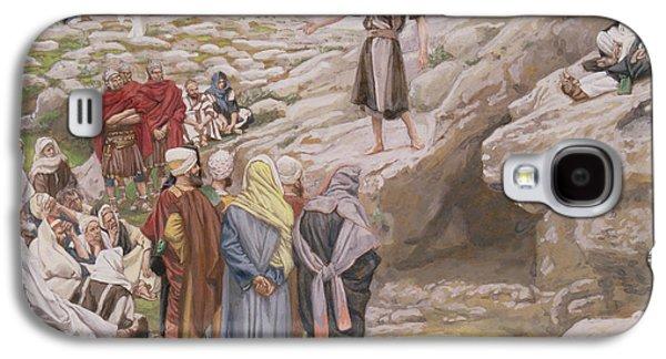 Baptist Paintings Galaxy S4 Cases - Saint John the Baptist and the Pharisees Galaxy S4 Case by Tissot