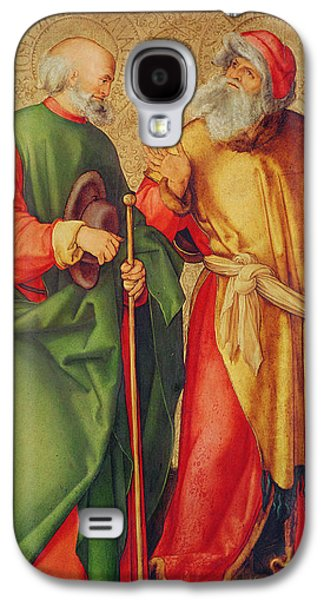 Orthodox Icon Galaxy S4 Cases - Saint Joseph and Saint Joachim Galaxy S4 Case by Albrecht Durer or Duerer