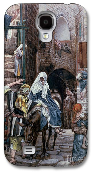 Saint Joseph Seeks Lodging In Bethlehem Galaxy S4 Case by Tissot
