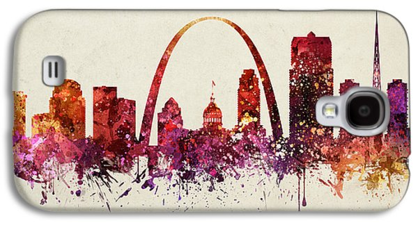 Saints Drawings Galaxy S4 Cases - Saint Louis Cityscape 09 Galaxy S4 Case by Aged Pixel