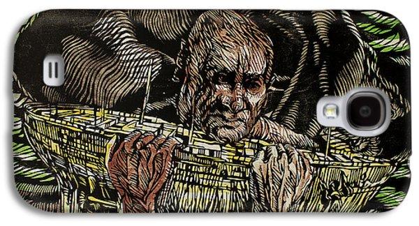 Printmaking Drawings Galaxy S4 Cases - Saints Never Surrender IV Galaxy S4 Case by John McKaig
