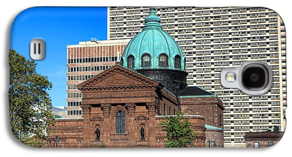 Downtown Franklin Galaxy S4 Cases - Saints Peter and Paul and Sheraton Hotel in Philadelphia  Galaxy S4 Case by Olivier Le Queinec