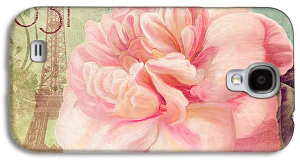 Pink Blossoms Galaxy S4 Cases - Saisons Pink Peony Rose Galaxy S4 Case by Mindy Sommers