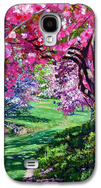 Cherry Blossoms Paintings Galaxy S4 Cases - Sakura Romance Galaxy S4 Case by David Lloyd Glover