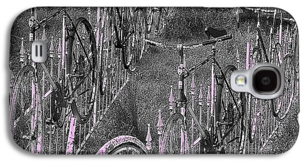 Abstracted Galaxy S4 Cases - Salado / Bicycles on the Fence  Galaxy S4 Case by Elizabeth McTaggart
