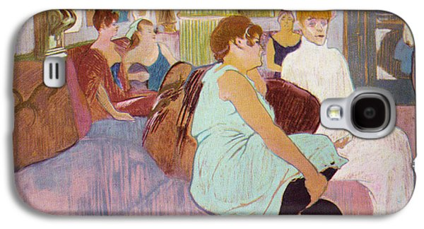 Prostitution Paintings Galaxy S4 Cases - Salon in the Rue Des Moulins  Galaxy S4 Case by Toulouse Lautrec