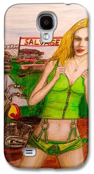 Posters Of Nudes Galaxy S4 Cases - Salvage yard camping  Galaxy S4 Case by Larry Lamb