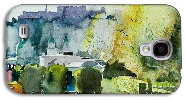 Salzburg Galaxy S4 Cases - Salzburg from Mirabell gardens Galaxy S4 Case by Simon Fletcher