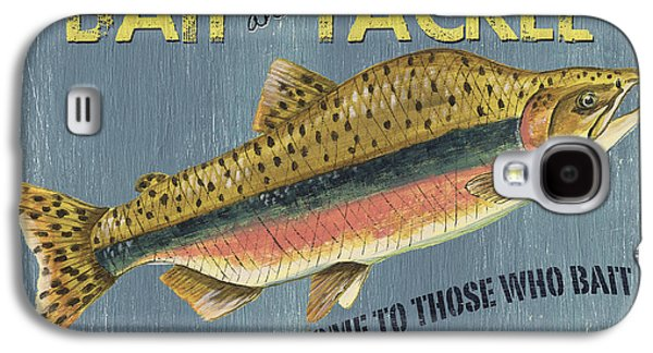Rainbow Trout Galaxy S4 Cases - Sam Egans Bait and Tackle Galaxy S4 Case by Debbie DeWitt